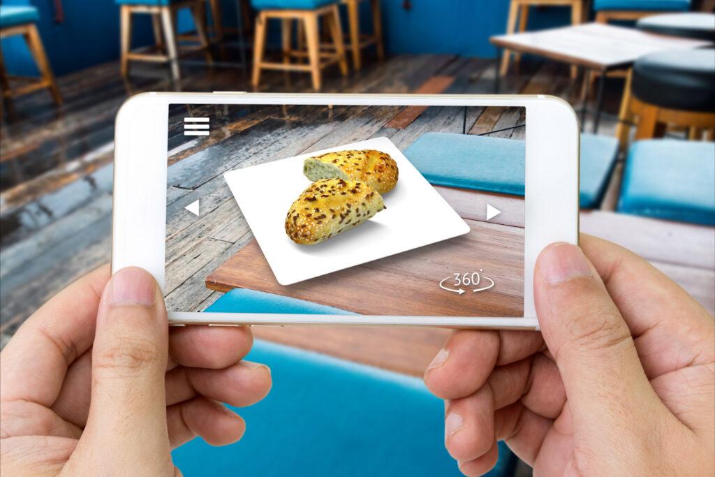 Augmented Reality Darstellung eines Broetchen