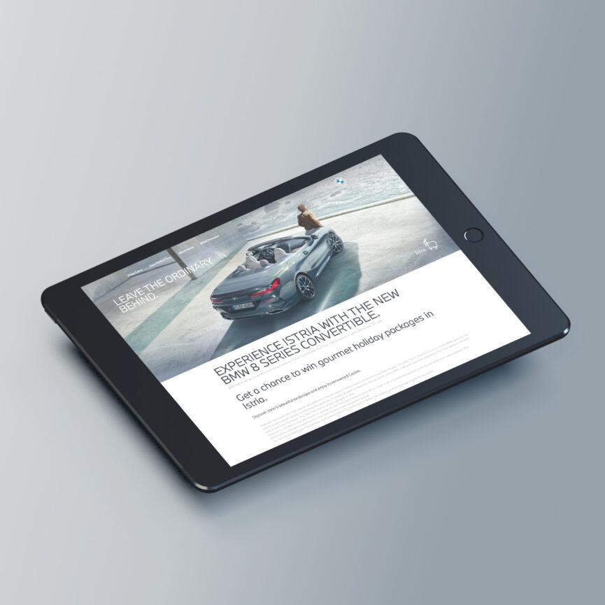 BMW Website Redesign im neuen CI Tablet Tabletansicht responsive Design