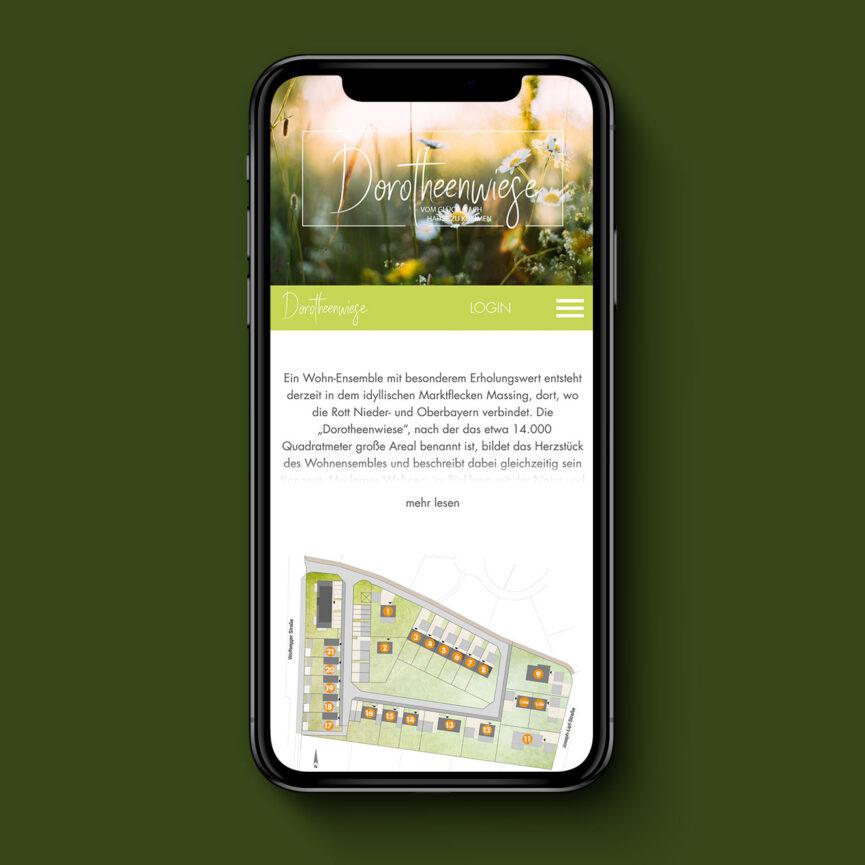 Dorotheenwiese Website Mobil