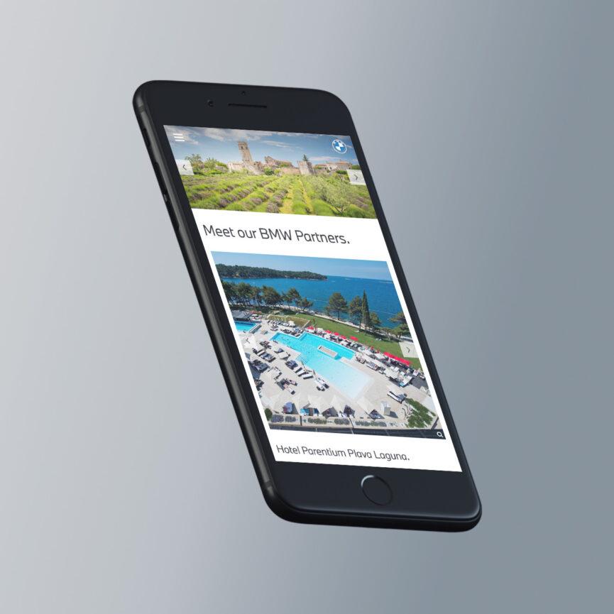 BMW Website Redesign im neuen CI Smartphone mobile Ansicht responsive Design