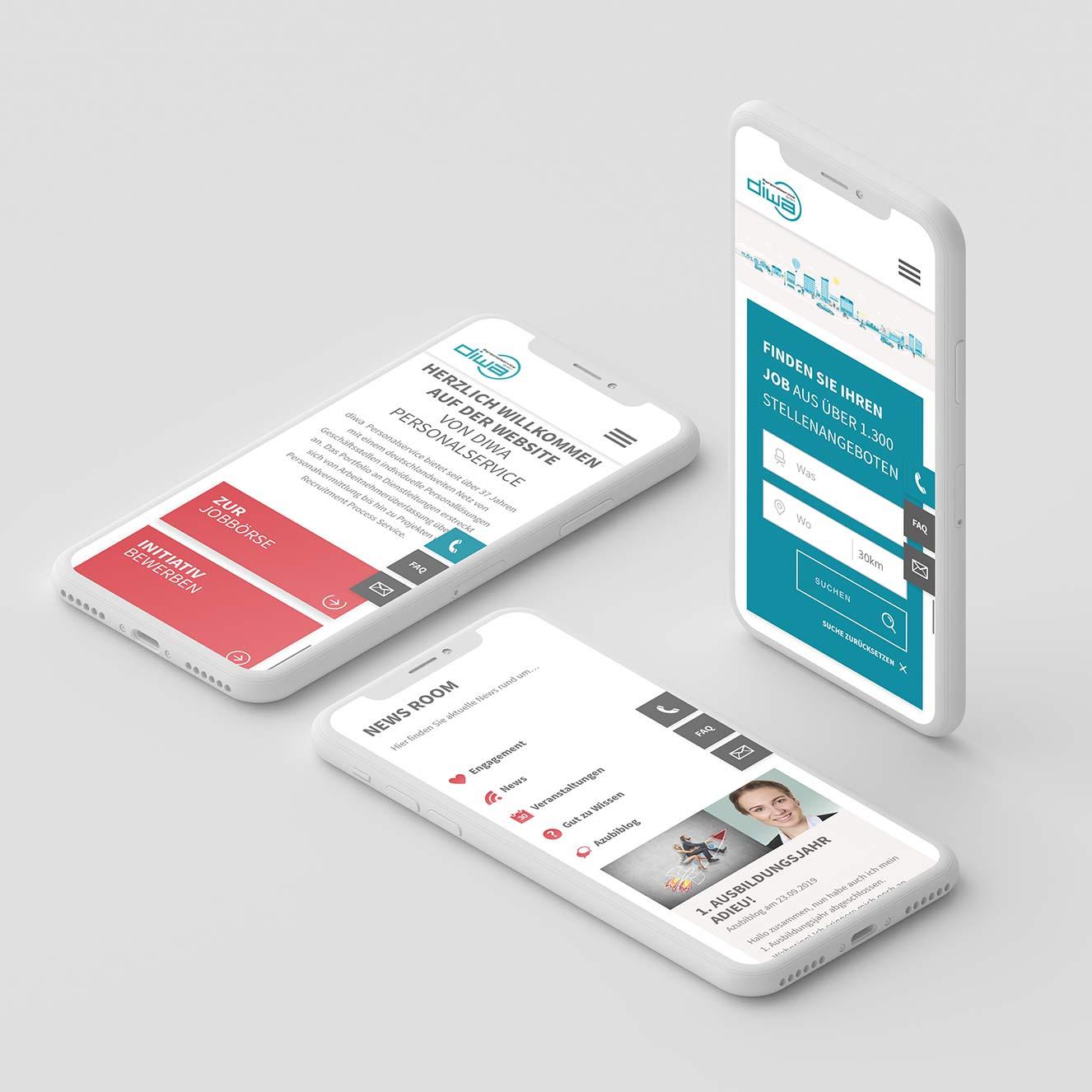 Diwa Personalservice Relaunch Website