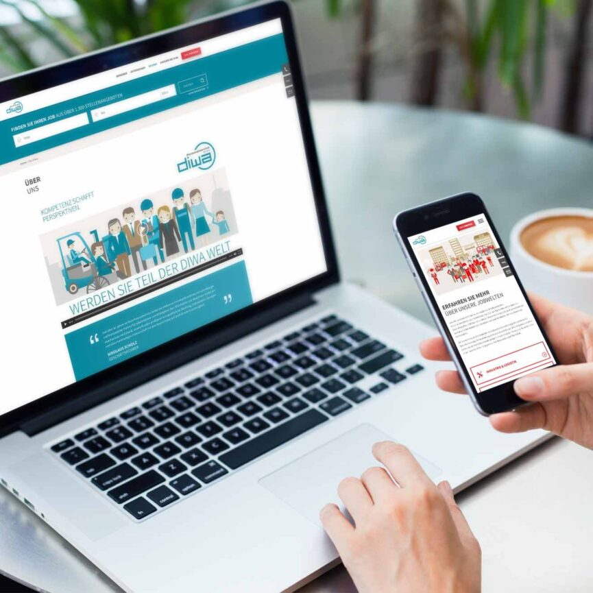 DIWA Personaldienstleistung Website Design