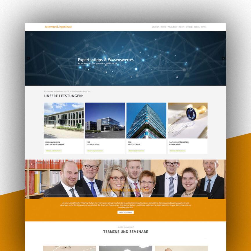 Website rotermund ingenieure Desktop