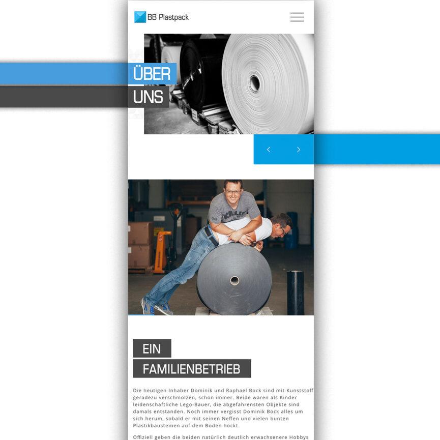 Website BB Plastpack mobil