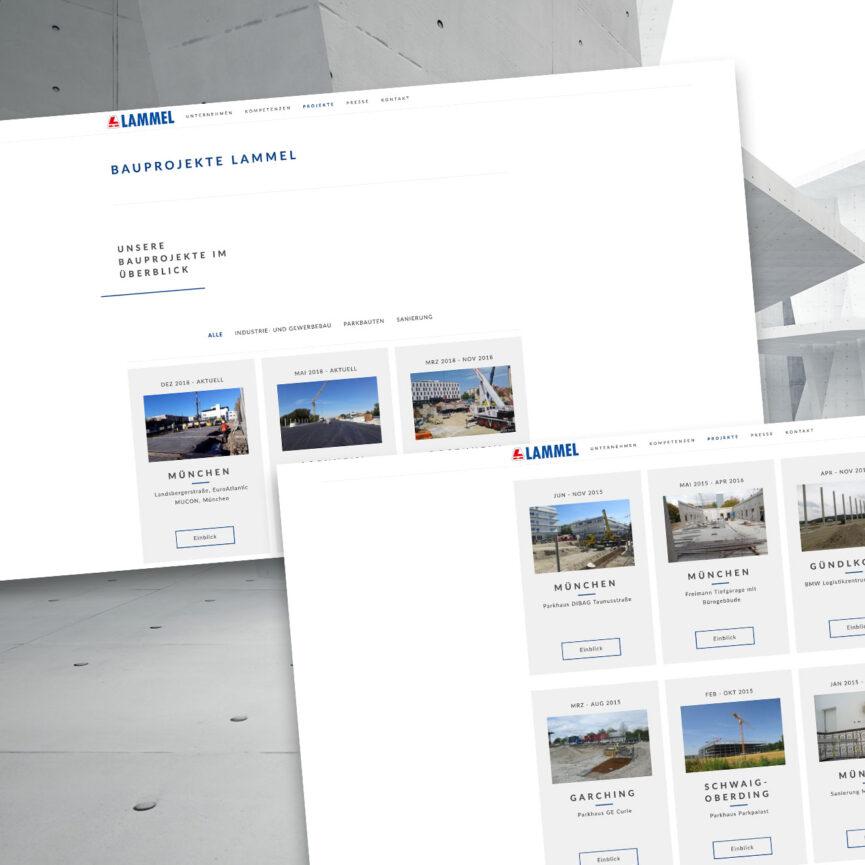 Lammel Website Design