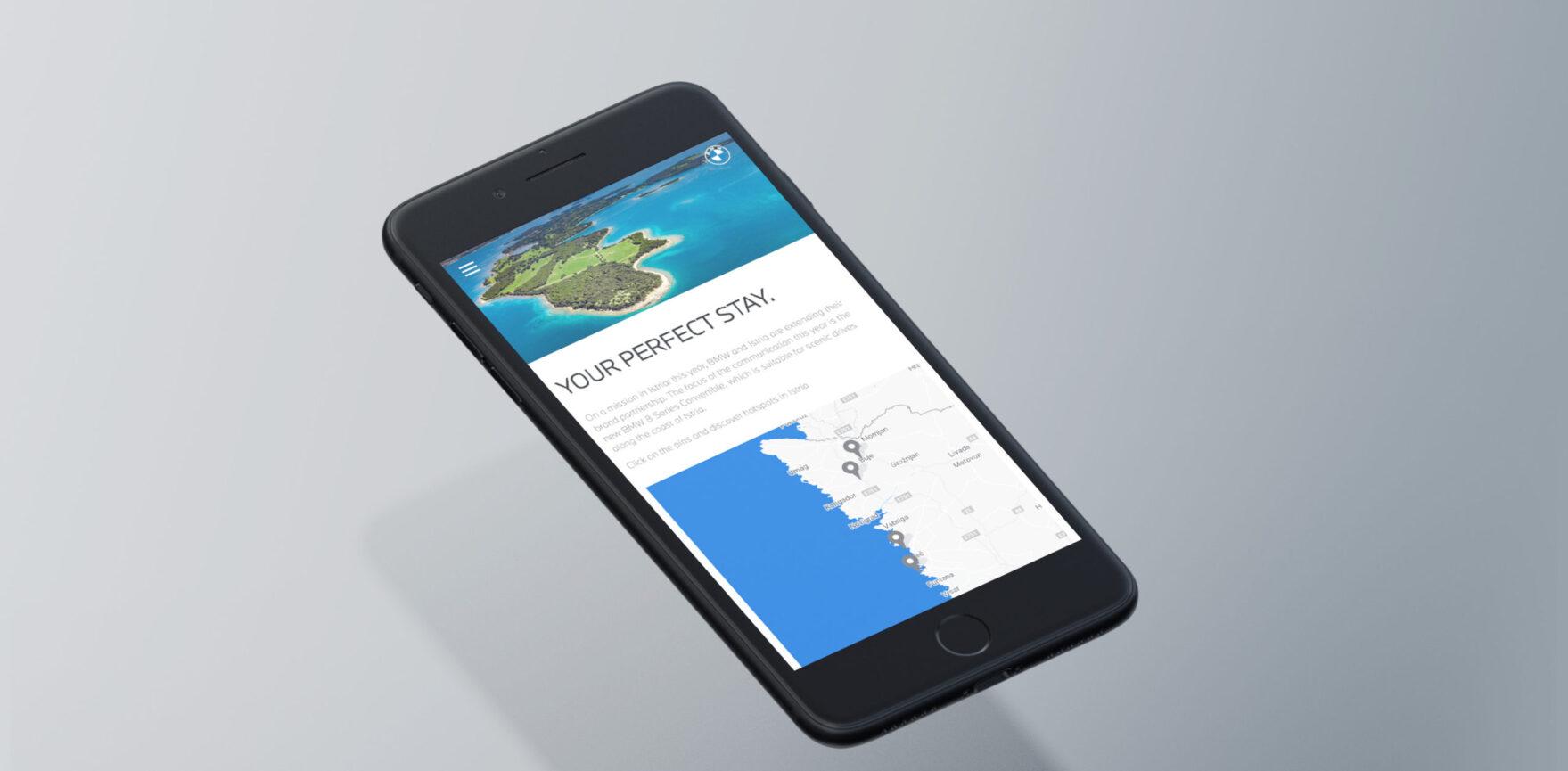 BMW Website Redesign im neuen CI mobile Webansicht Smartphone