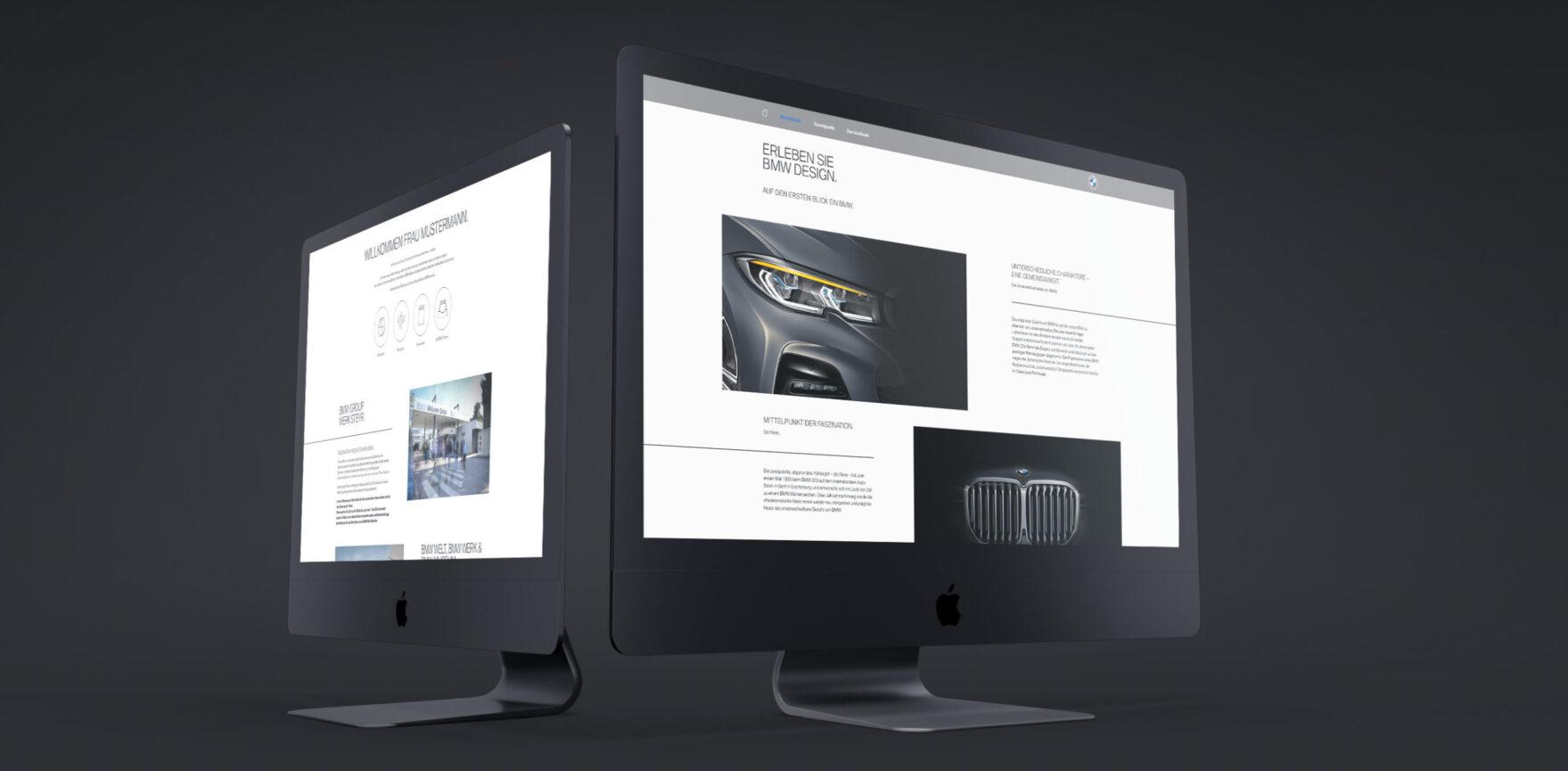 BMW Digitales Welcome Package Desktop Bildschirm schwarzer Hintergrund
