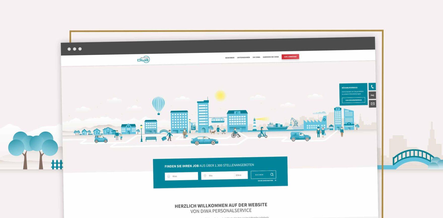 DIWA Personalservice Website