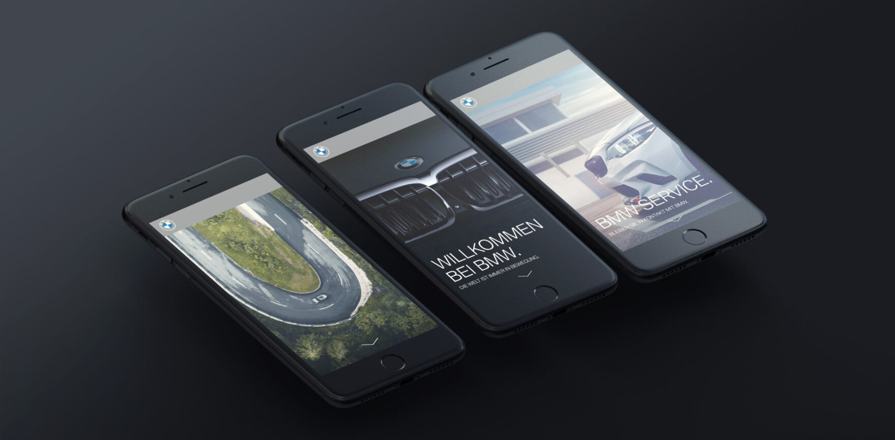 BMW Digitales Welcome Package Smartphone responsive Design