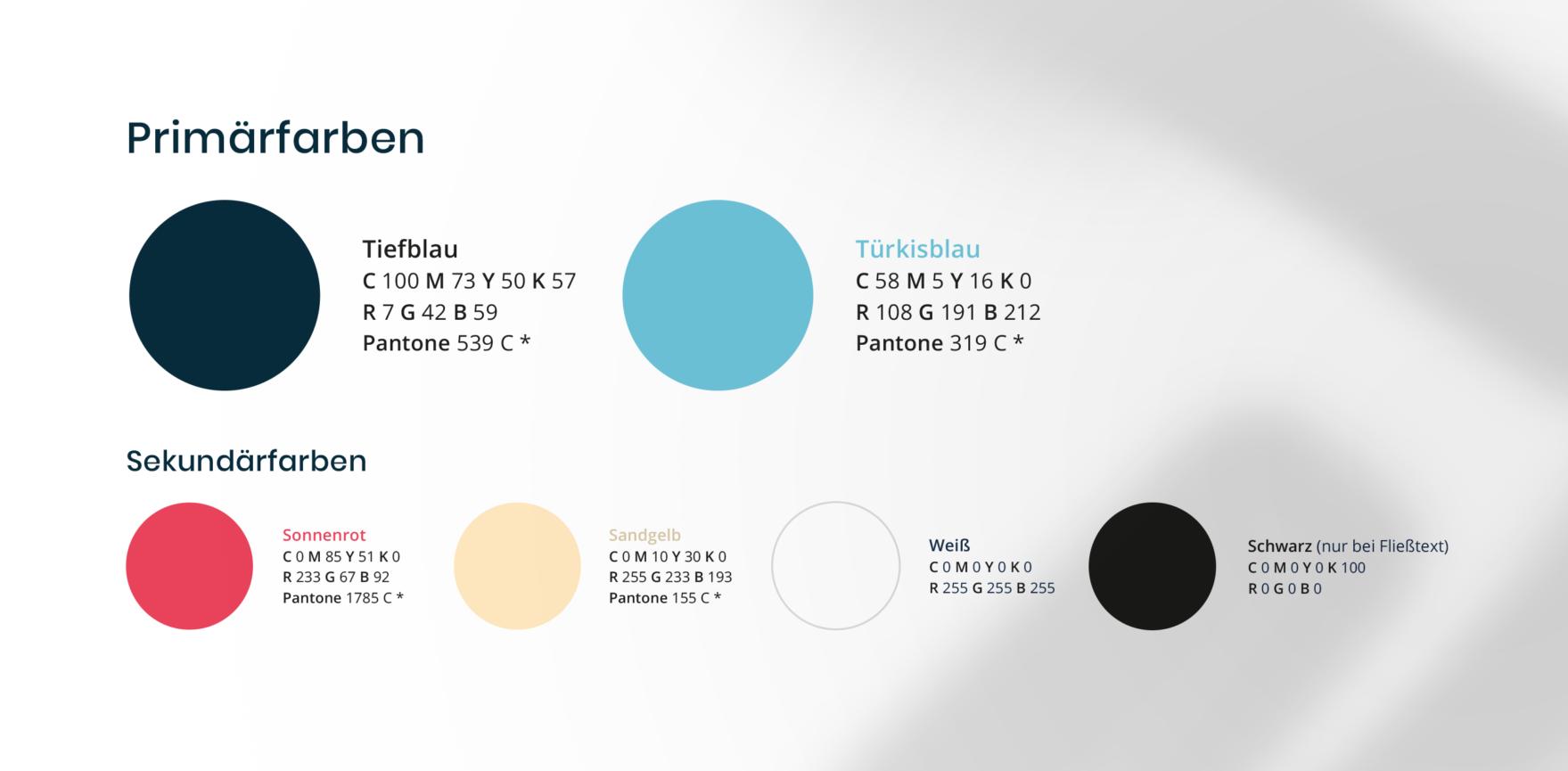balearis Namensgebung und Branding Farbdefinition in CD Guide