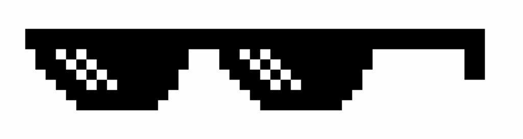 Meme Pixel Sonnenbrille