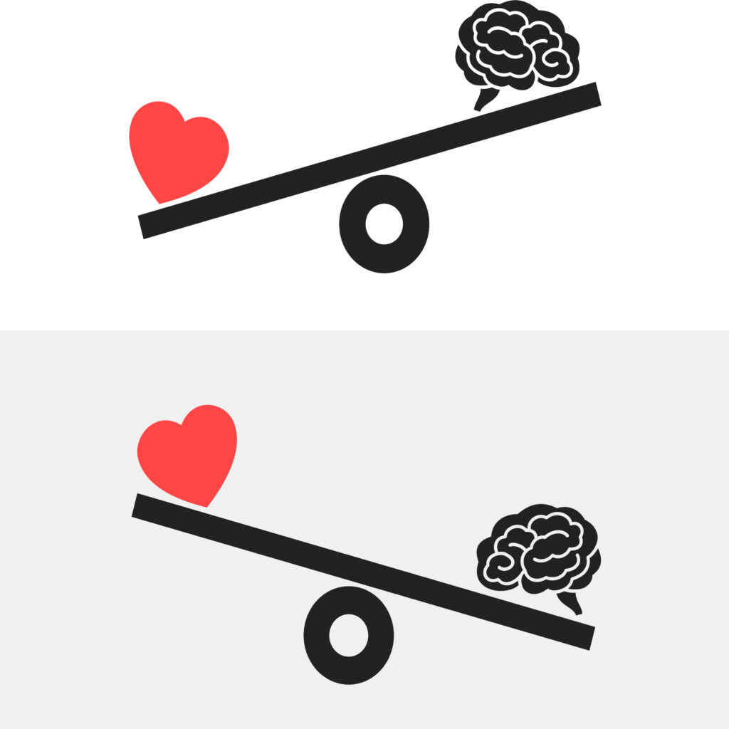 Balance zwischen Rational und Irrational