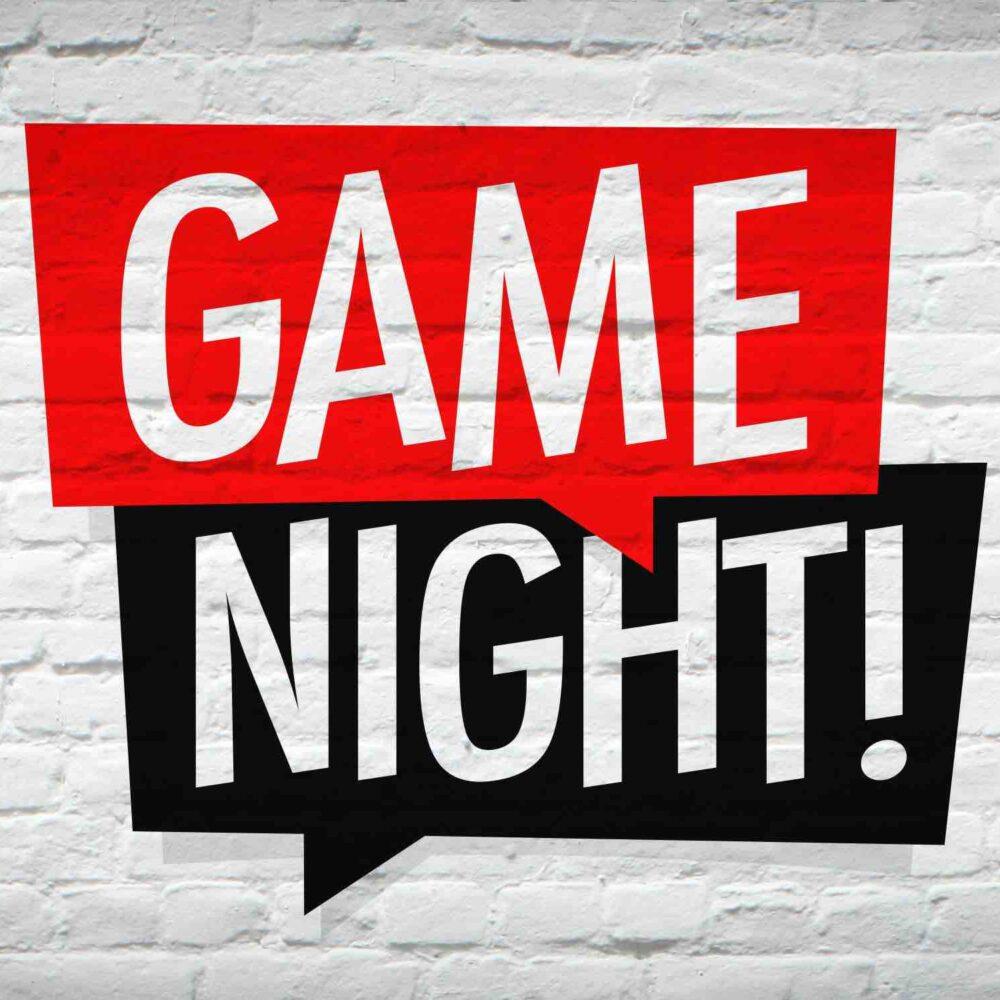 Schriftzug Game Night