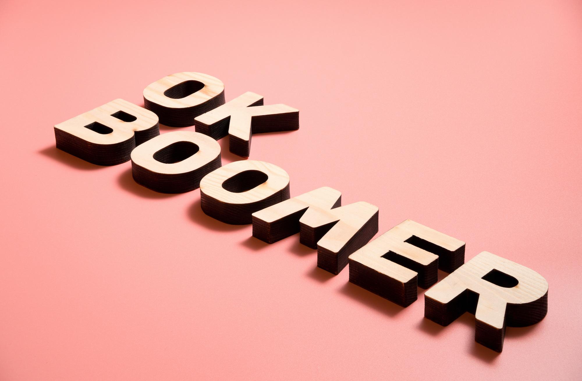 Holzbuchstaben Ok Boomer