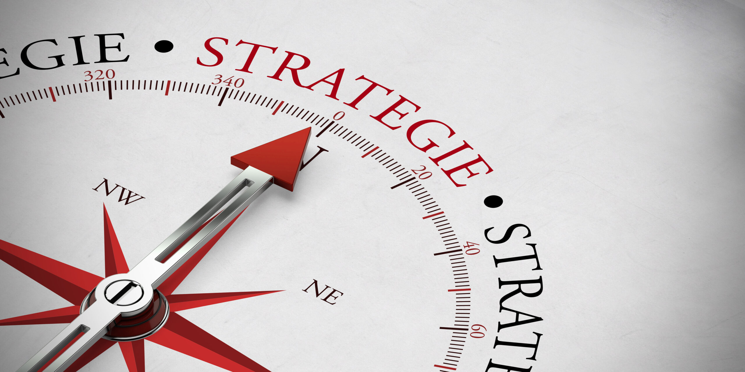 Kompassnadel mit Strategie
