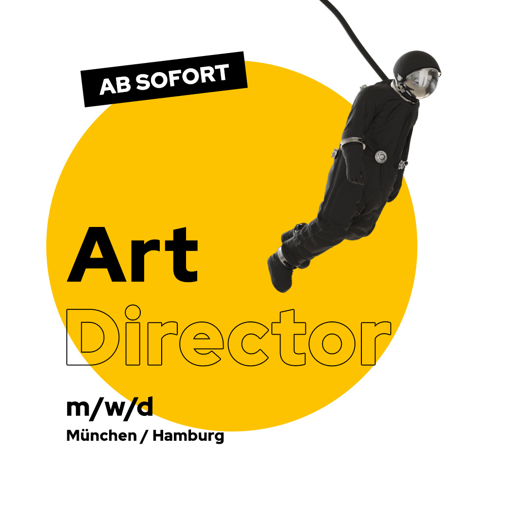 Stellenanzeige Art Director MUC HH