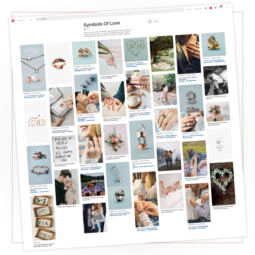 "BERING Pinterest Board ""Symbols of love"""