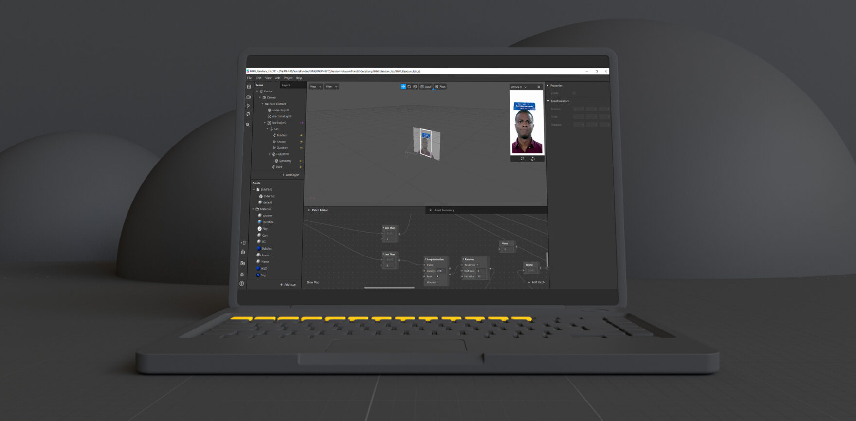 Instagram Filter Creation Laptop