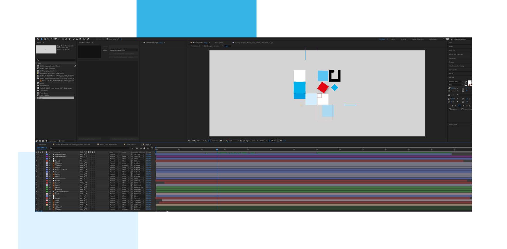 Entstehung Animation Wort-Bild-Marke Bayerisches Staatsministerium für Digitales
