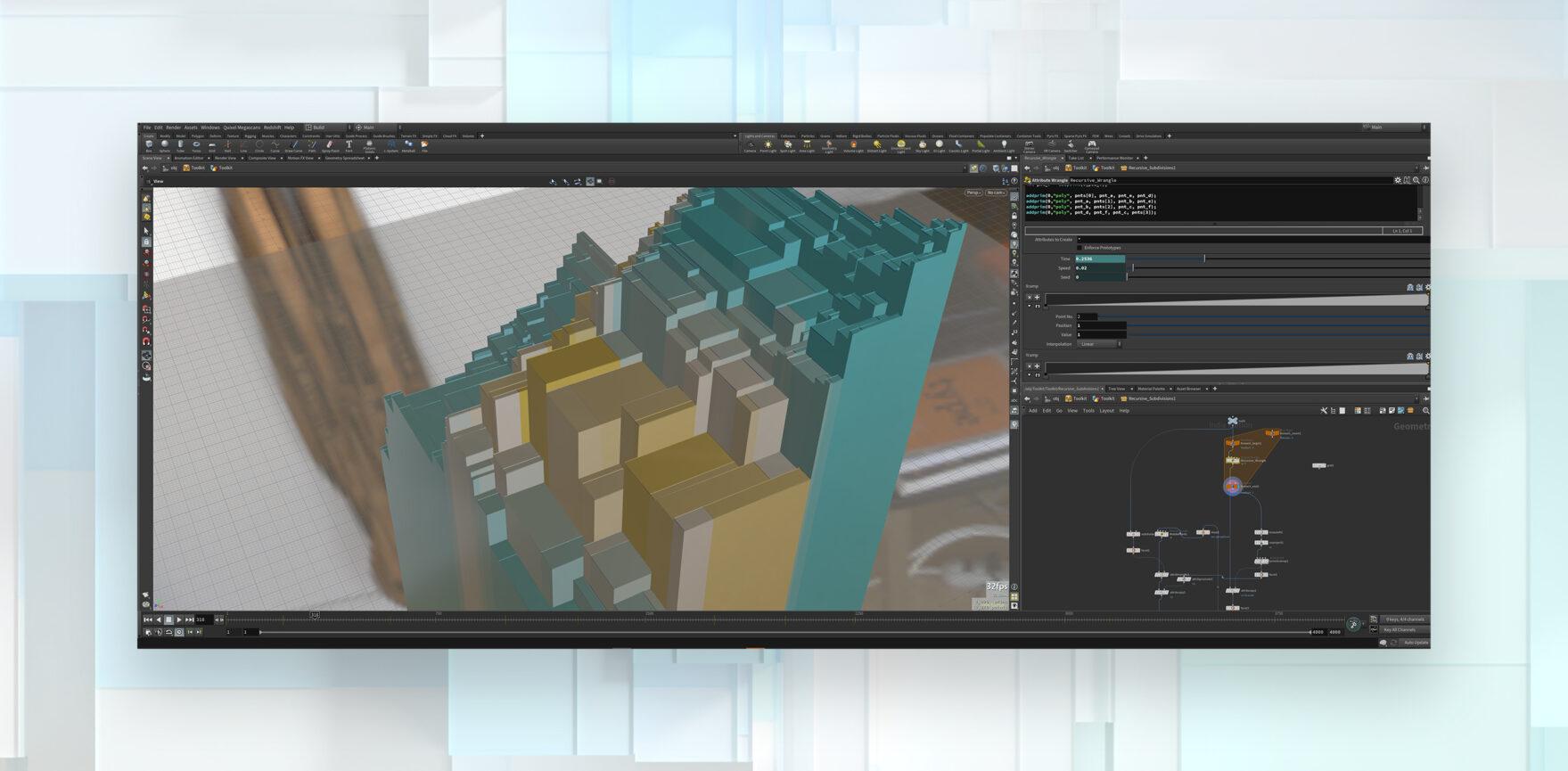 Entstehung Bayerisches Staatsministerium für Digitales 3D-Animation für Konferenzen