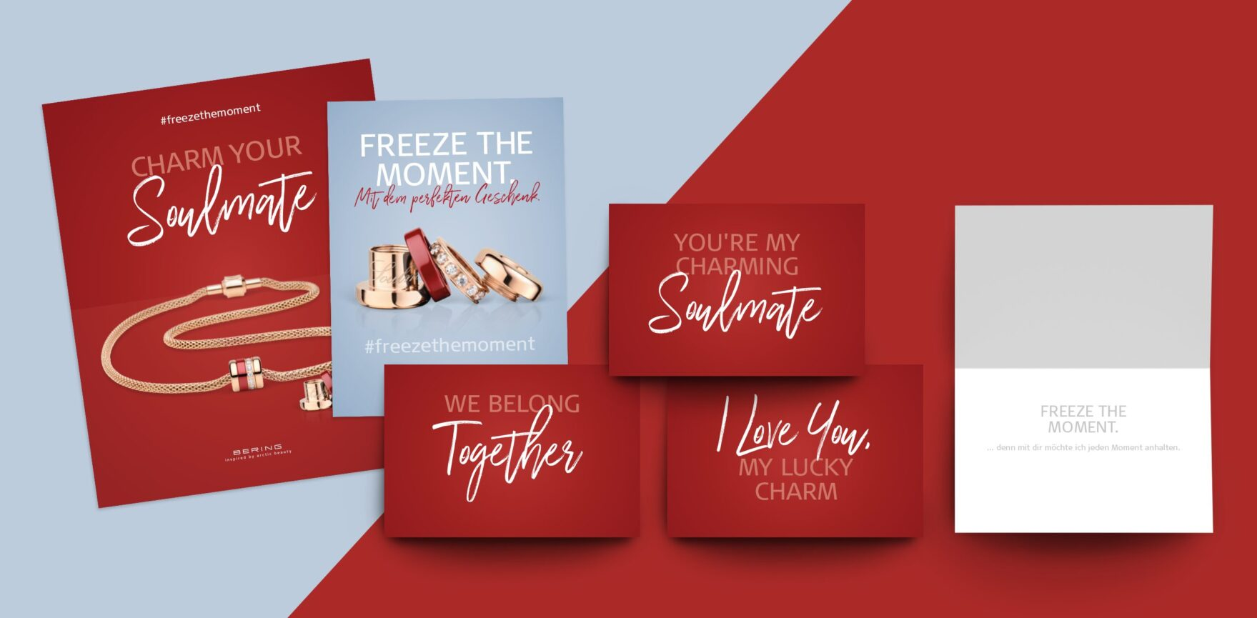 BERING Valentinstag Kampagne Grußkarten