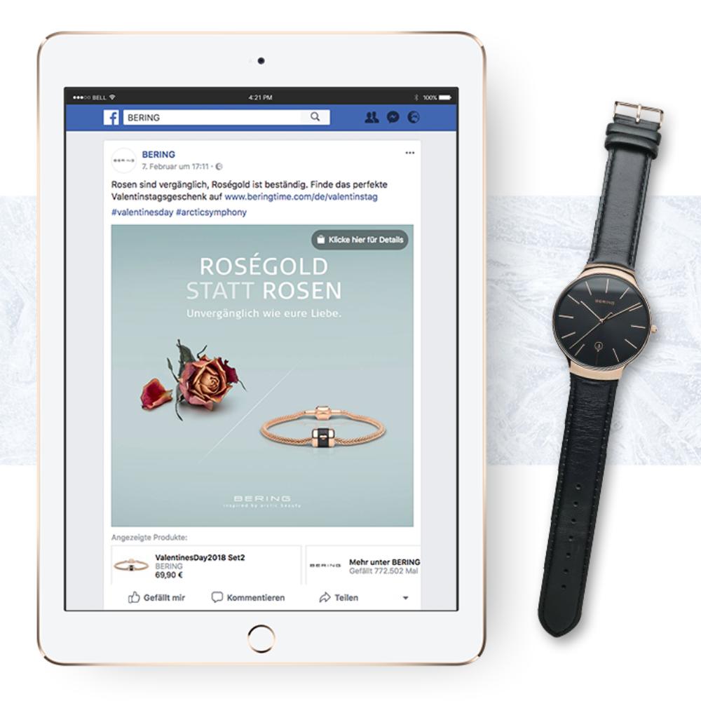 Facebook Post von BERING fu%CC%88r Valeintstag
