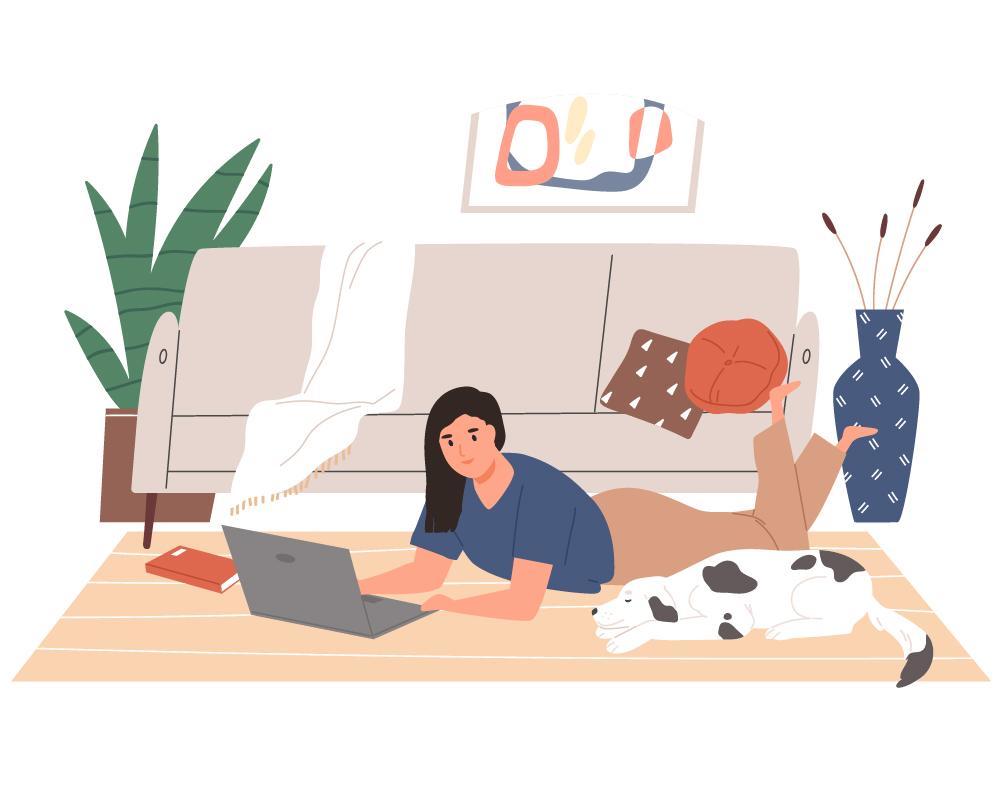 Icon Homeoffice mit Hund