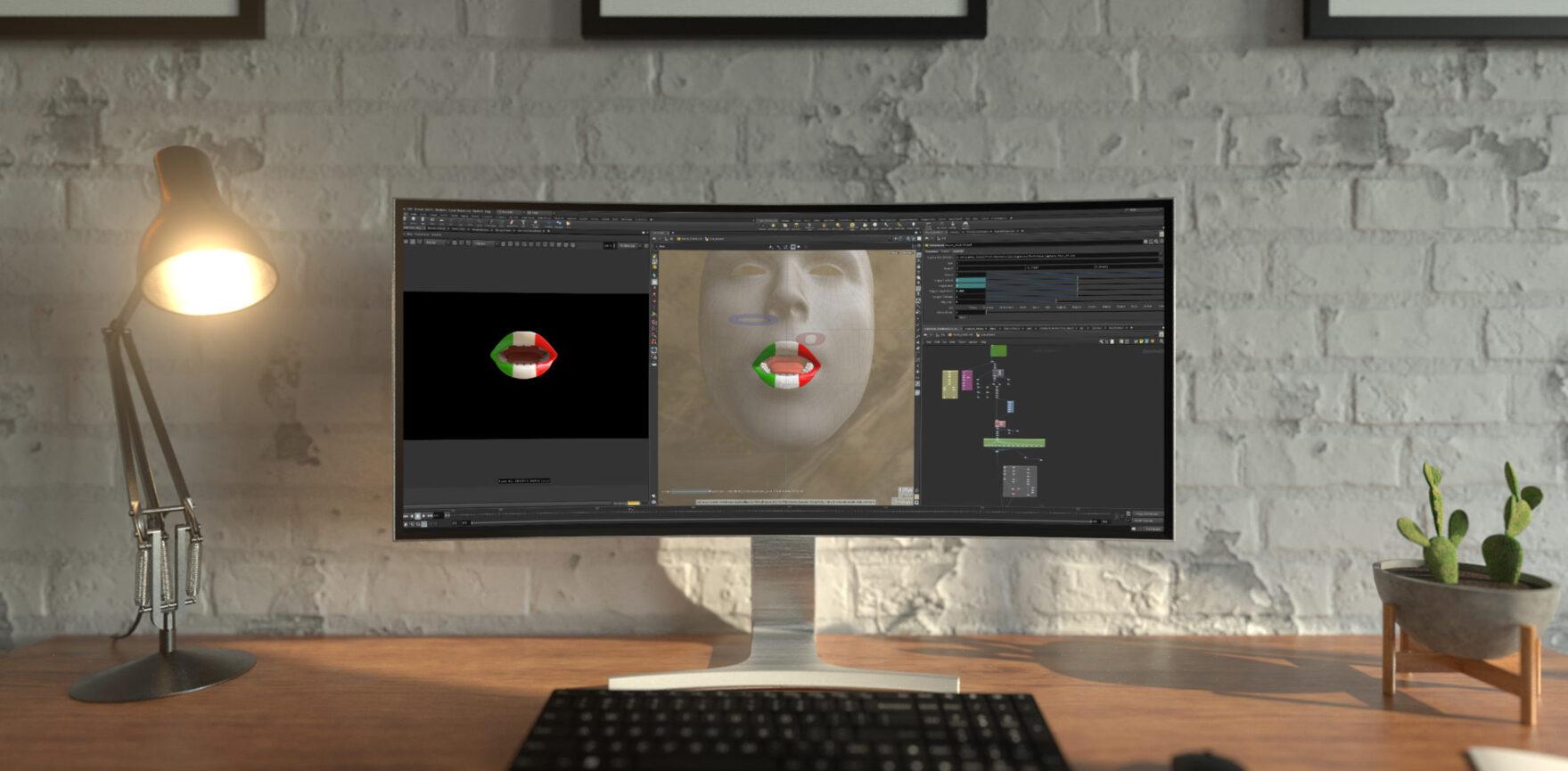 ProSieben Free ESC Motion Capturing und Animation-Bildschirm Italien