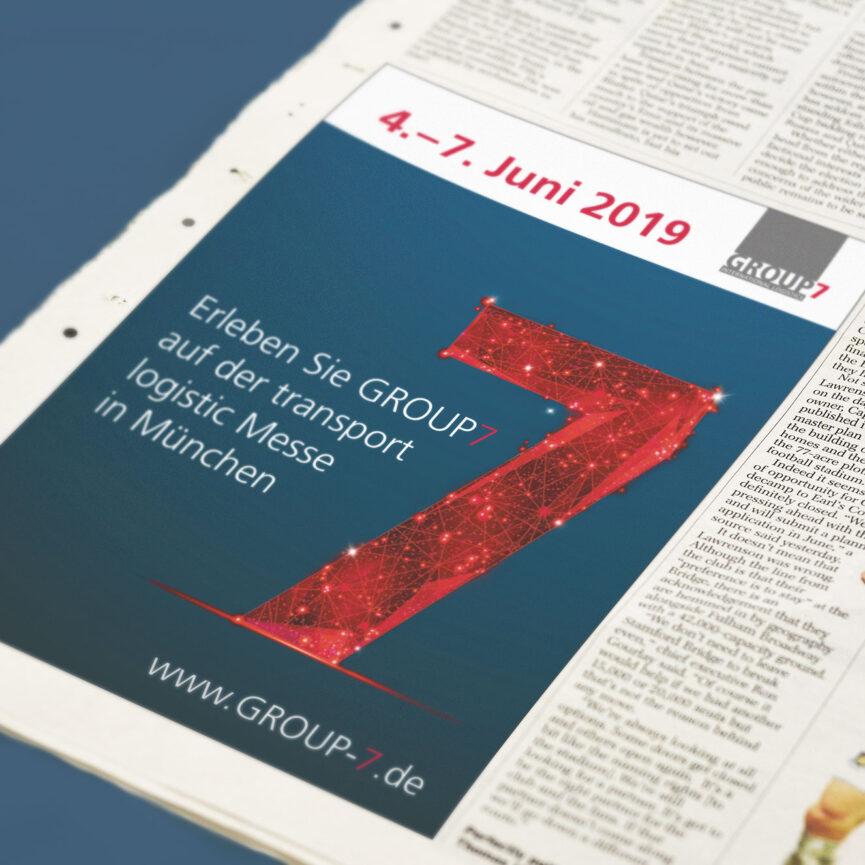 Key Visual Group 7 Zeitungsanzeige
