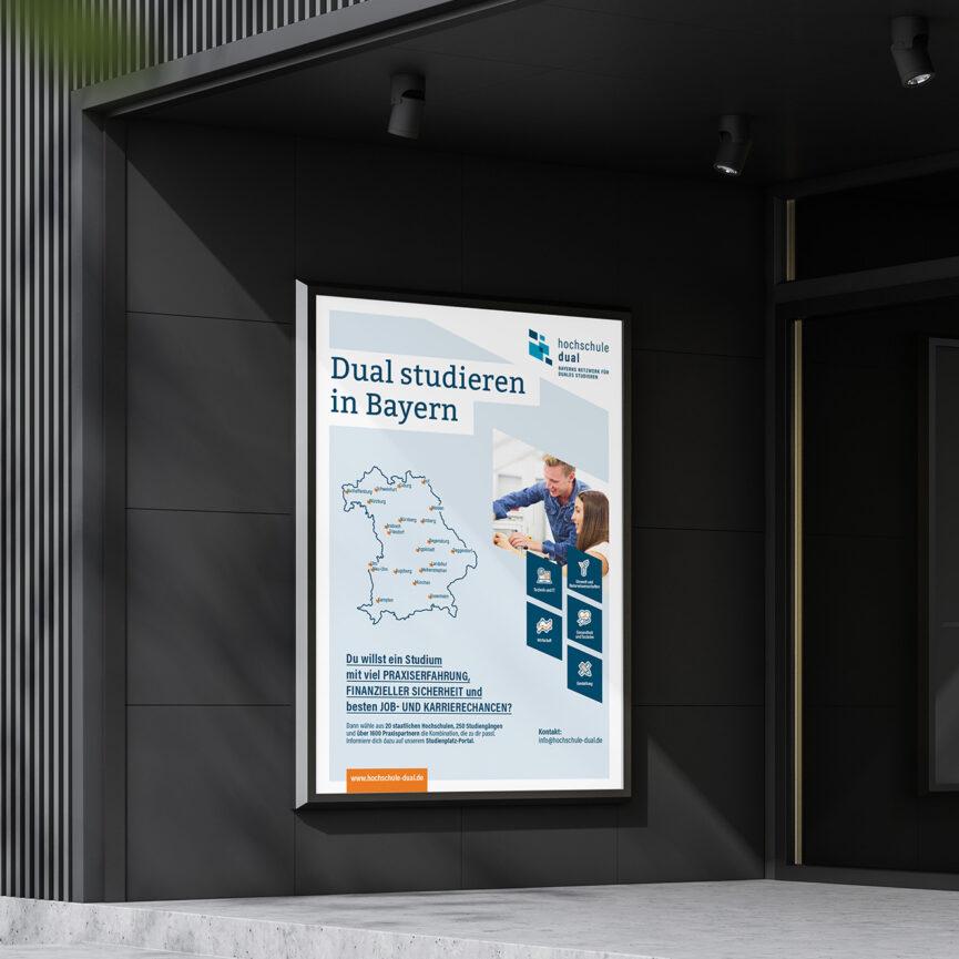 hochschule dual Corporate Design-Poster-dual studieren in Bayern