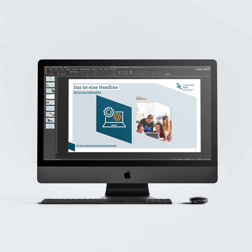 hochschule dual Corporate Design-Bildschirm-Praesentation-PowerPoint