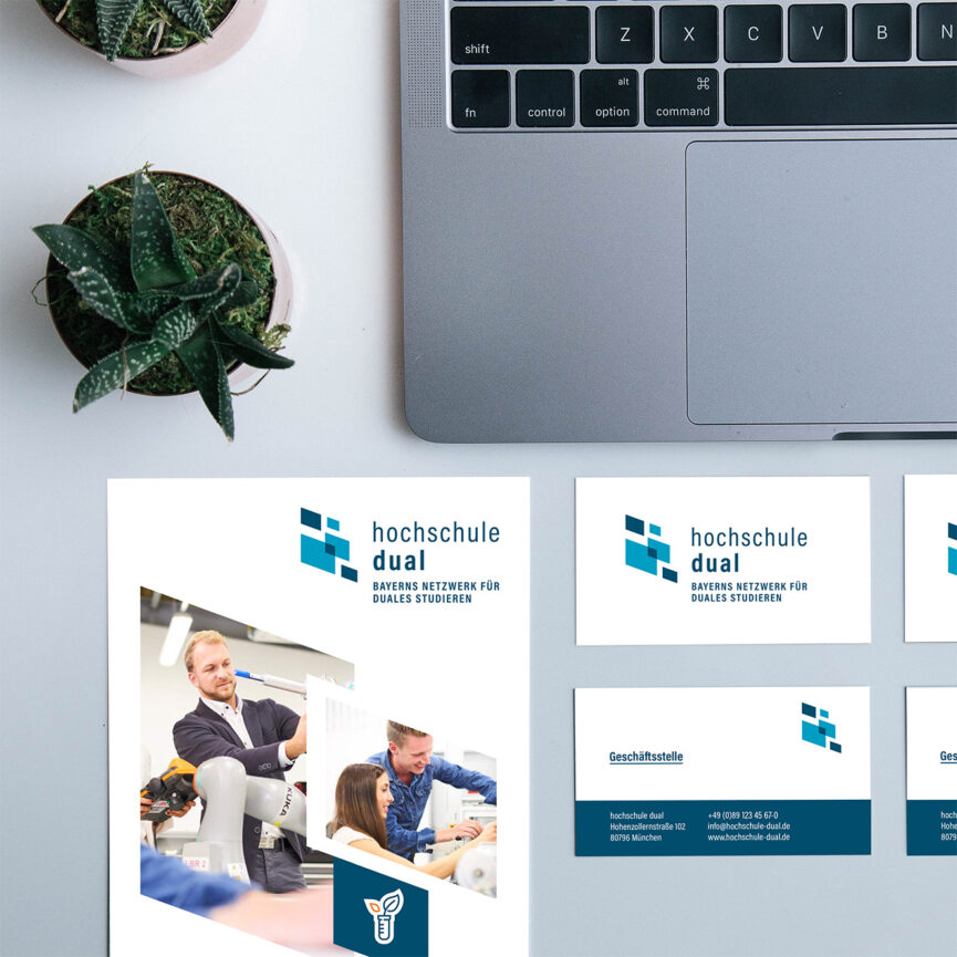 hochschule dual Corporate Design-Flyer-Visitenkarten