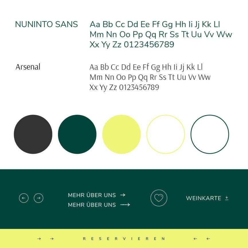 Huberwirt Website Relaunch Schrift Farben Icons