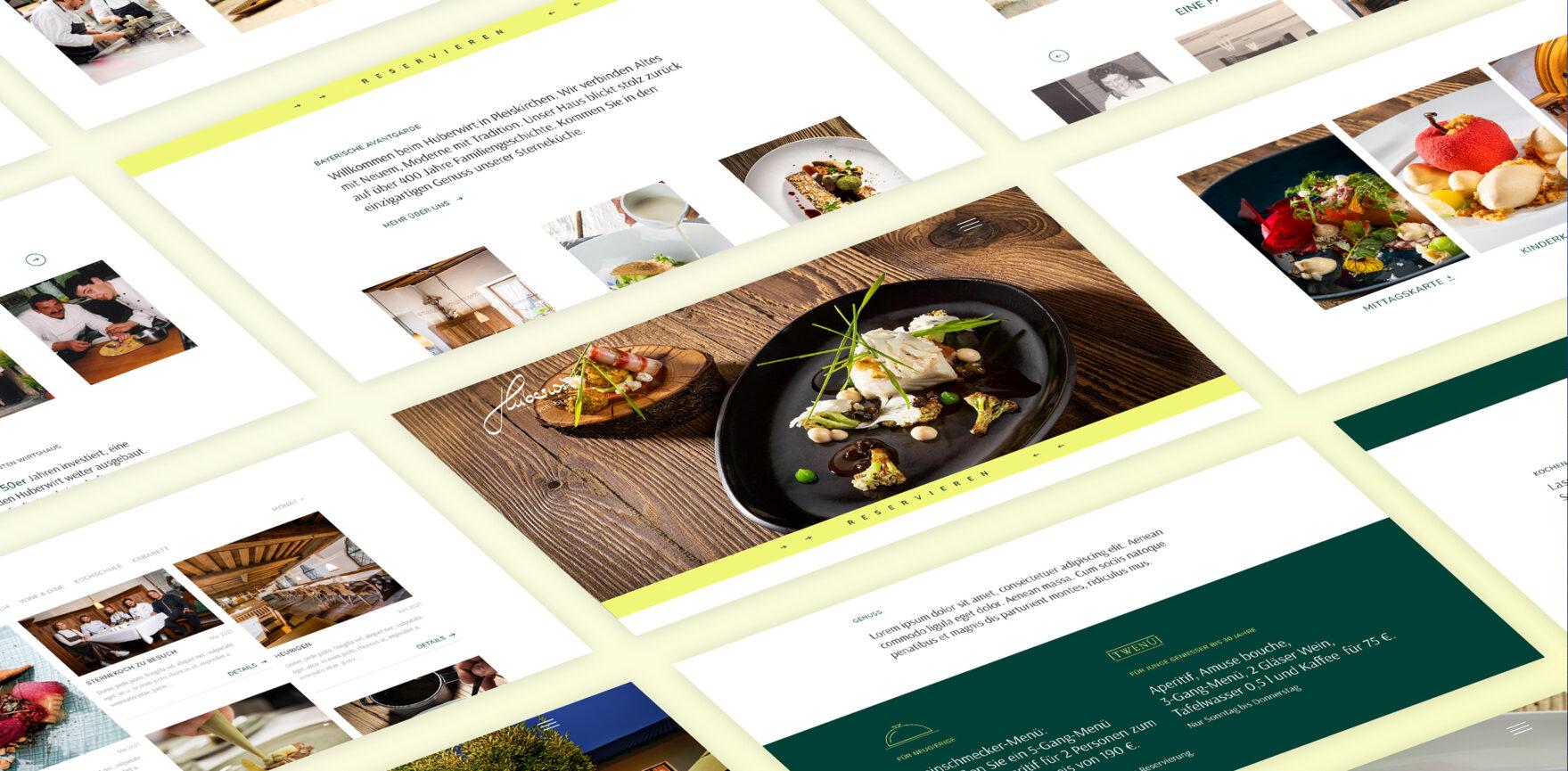 Huberwirt Website Relaunch Screenshots