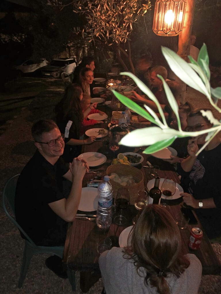 Gemeinsames Essen Teamausflug Mallorca