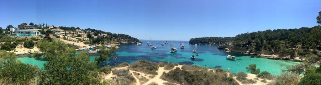 Panorama Ansicht Bucht Mallorca