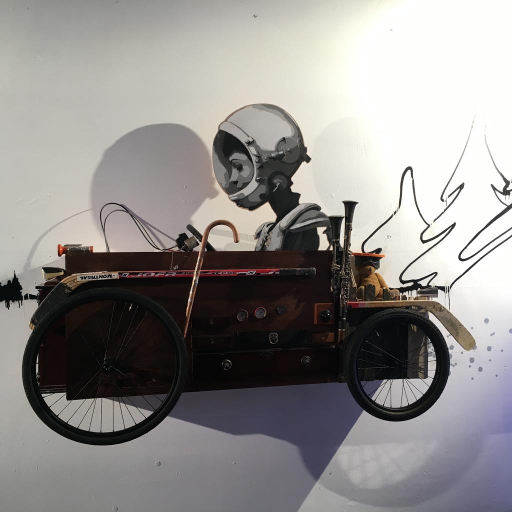 Hafengeschichten Blogfoto Komoden-Astronaut Millerntor Gallery