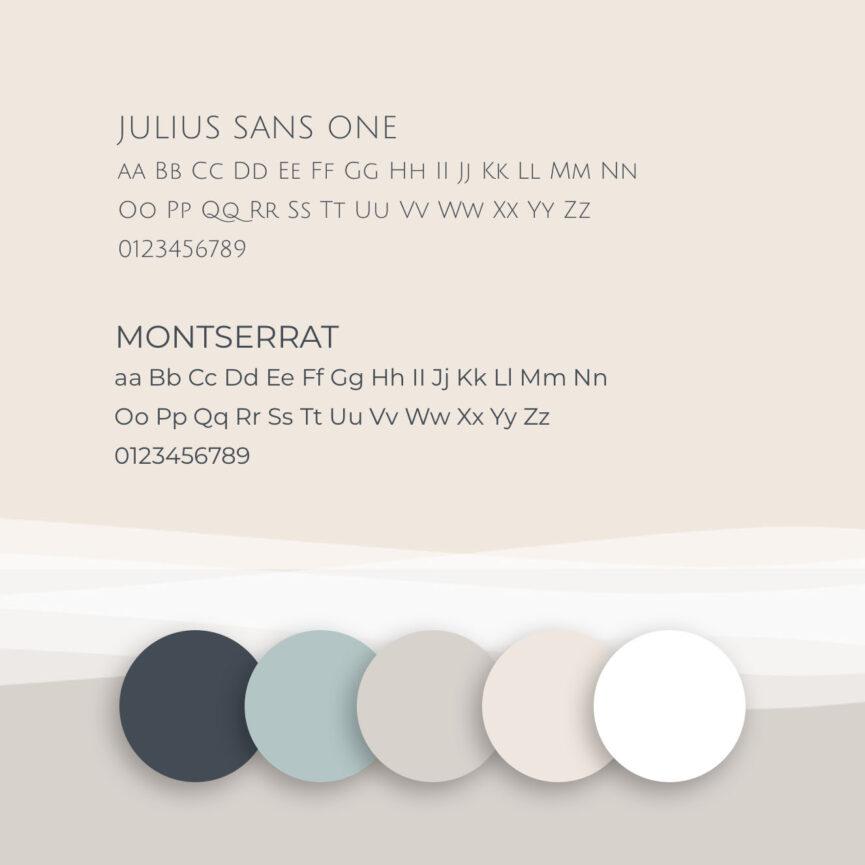 Farben und Schriften Strandhotel Website
