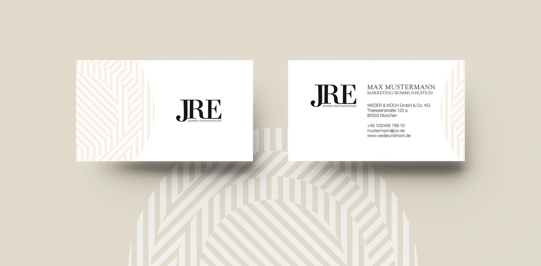 JRE Visitenkarte Corporate Design