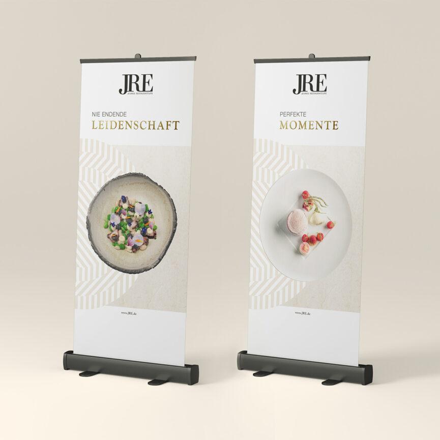 JRE RollUps zwei Varianten Print Design