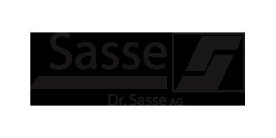 Schwarz-weiß Logo von der Doktor Sasse AG