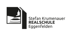 Logo in schwarz-weiß der Stefan Krumenauer Realschule Eggenfelden