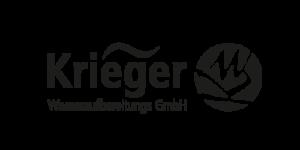 Symbol der Krieger Wasseraufbereitungs GmbH in schwarz weiß