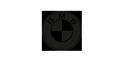 Logo BMW in schwarzweiß