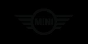 Logo der Automarke Mini in schwarzweiß