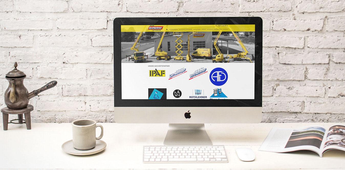 Liftverleih Rothlehner Website relaunch redesign