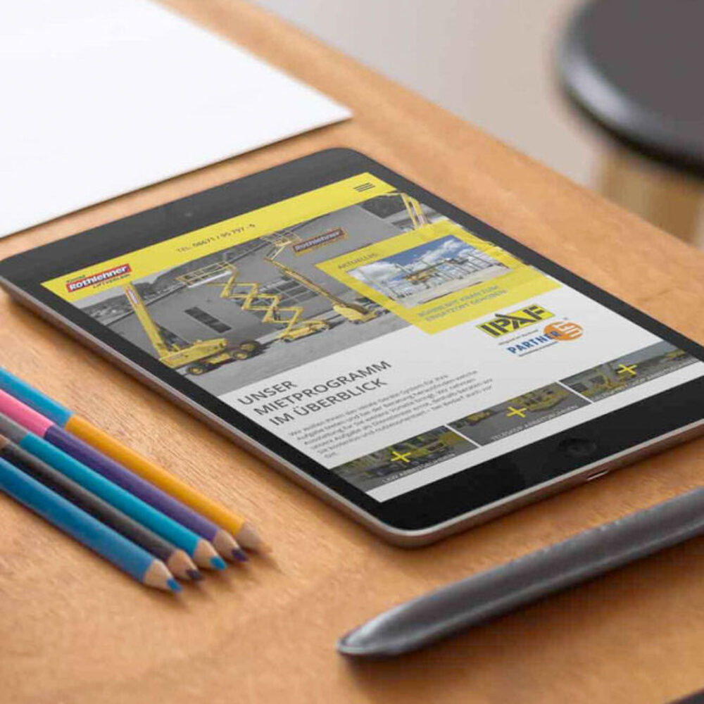 Liftverleih Rothlehne Website relaunch redesign