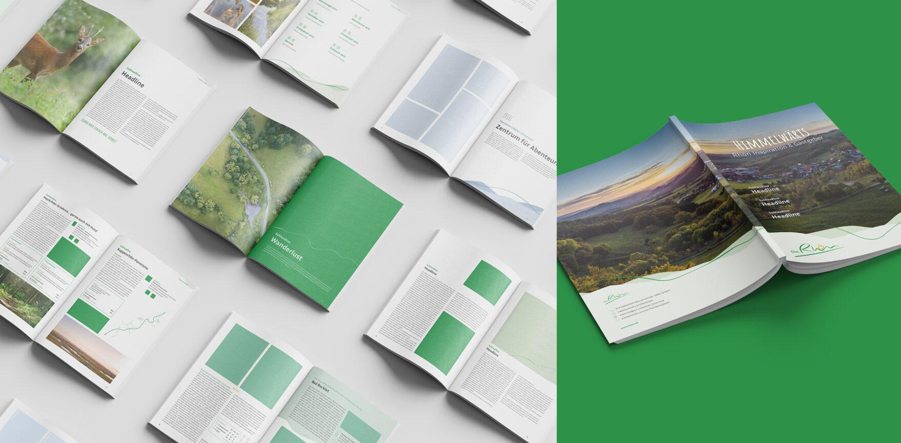 Rhön GmbH Corporate Design Überarbeitung neues Himmelwärts Magazin