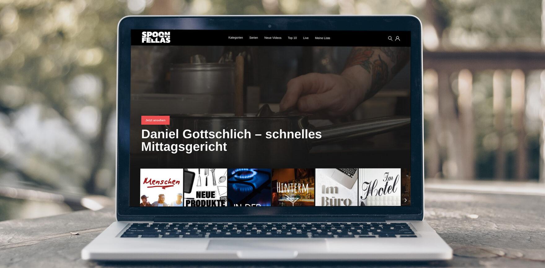 Spoon Fellas Videoplattform Website Desktop Laptop