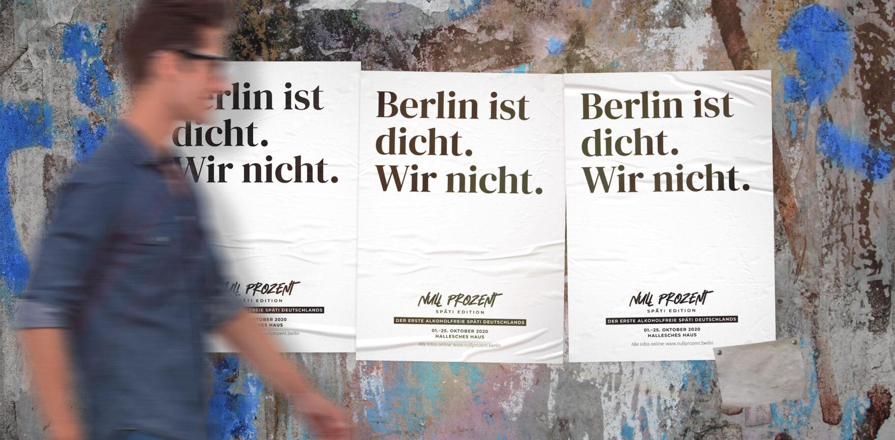 Null Prozent Spaeti Corporate Design Nuechtern Berlin Print Plakat A2